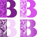 Set of letters. A set of four letters B different color. Other letters refer to my portfolio Stock Images