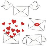 Set of letters Stock Image