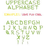 Set of letters as uppercase alphabet stock photo