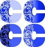 Set of letters C. A set of four letters C different color Royalty Free Stock Image