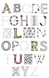 Set of letters, lace Royalty Free Stock Photography