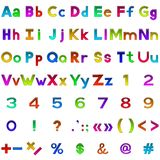 Set of letters and numbers, buttons Royalty Free Stock Photography