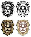 Set lew głowy royalty ilustracja