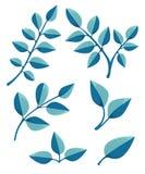 Set liścia projekta elementy również zwrócić corel ilustracji wektora Obrazy Royalty Free