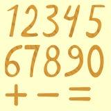Set liczby od zero dziewięć Zdjęcia Royalty Free