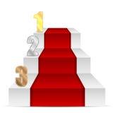 Set liczby złota srebro i brąz barwimy Zdjęcie Stock