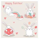 Set śliczni bunnies/Inkasowi Zdjęcia Stock