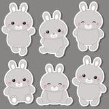 Set śliczni króliki Obraz Royalty Free