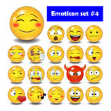 Set śliczni smiley emoticons Fotografia Stock