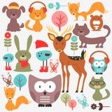 Set śliczni zwierzęta Zdjęcia Royalty Free
