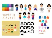 Set śliczny charakteru avatar Zdjęcia Stock