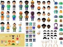 Set śliczny charakteru avatar Zdjęcie Royalty Free