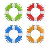 Set of life buoys Royalty Free Stock Image