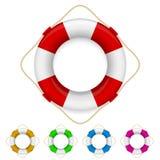 Set of life buoys Royalty Free Stock Images