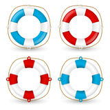 Set of lifebuoy icons Stock Photography
