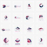 Set of light abstract geometric business company Royalty Free Stock Images