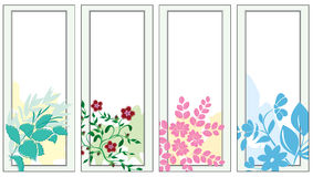 Set of  light banners with flora - vector Royalty Free Stock Images