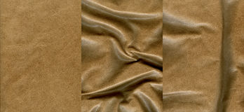 Set of light brown leather textures. For background Royalty Free Stock Image