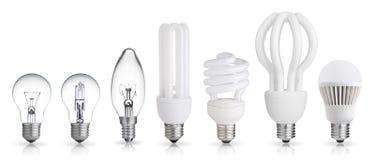 Set of light bulb royalty free stock photo