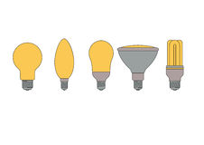 Set  of light bulbs Stock Image