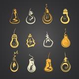 Set of light bulbs Stock Image