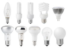Set of Light bulbs Stock Photography