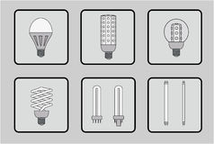 Set of light bulbs Royalty Free Stock Image