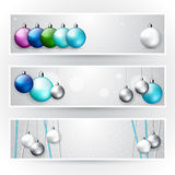 Set of light Christmas banners Royalty Free Stock Images