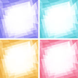 Set of Light Colorful Technology Frames Stock Photo
