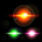 Set Light Effect Stars vector design Royalty Free Stock Images