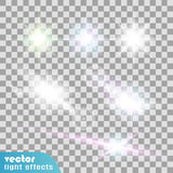 Set of light effects stock illustration