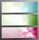 Set Of Light Festive Banners. With Shine And Twinkle Stock Images