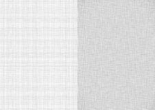 Set of light gray white line fabric thread canvas burlap texture in A4 paper size backgrounds. Thread gray pattern backdrop vertical paper format vector illustration