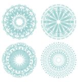 A set of light green circle lace patterns Stock Photos