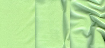 Set of light green leather textures Stock Image