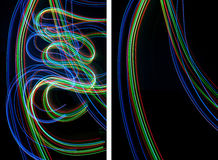 Set of light painting backgrounds Stock Photo