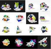 Set of light, paper design option infographic Royalty Free Stock Image