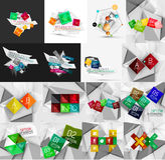 Set of light, paper design option infographic Stock Images