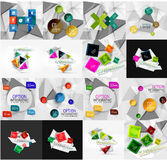 Set of light, paper design option infographic Royalty Free Stock Images