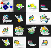 Set of light, paper design option infographic Royalty Free Stock Photo
