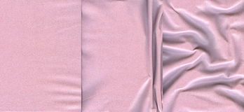 Set of light pink leather textures Stock Photos