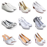 Set of  light shoes-1 Royalty Free Stock Photography