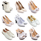 Set of  light shoes-3 Royalty Free Stock Images