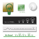 Set of Lightbulb Banners and Symbols Royalty Free Stock Photography