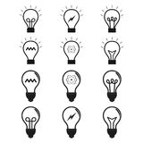 Set of lightbulbs Stock Image