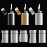 Set of lighters Stock Image