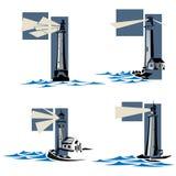 Set of lighthouse icons. Royalty Free Stock Image