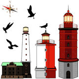 Set of lighthouses Stock Images