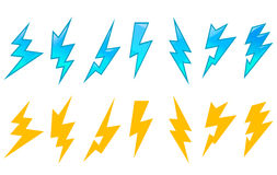Set of lightning icons Stock Photos