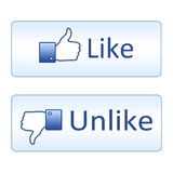 Set like ans unlike buttons. On white background Royalty Free Stock Image